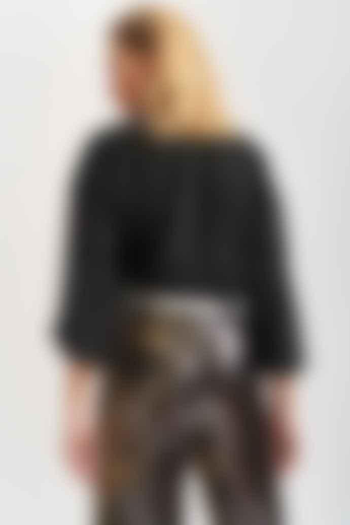 Essentiel Antwerp Voulez Vous Black Blouse With Holographic Polka Dots