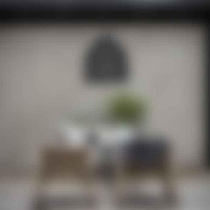 PR Home Large Black Rattan Lampshade
