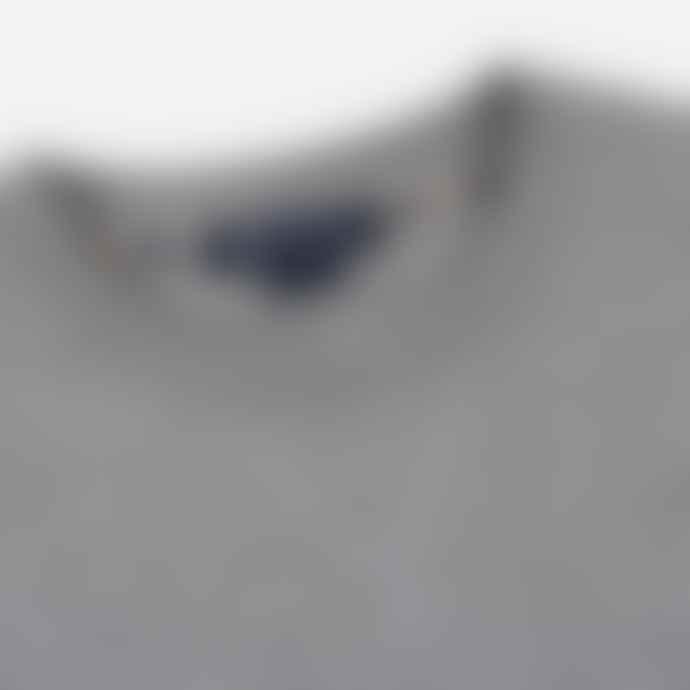 Aquascutum  Grey Melange Oliver Crew Neck MAS4358 M009 Sweater