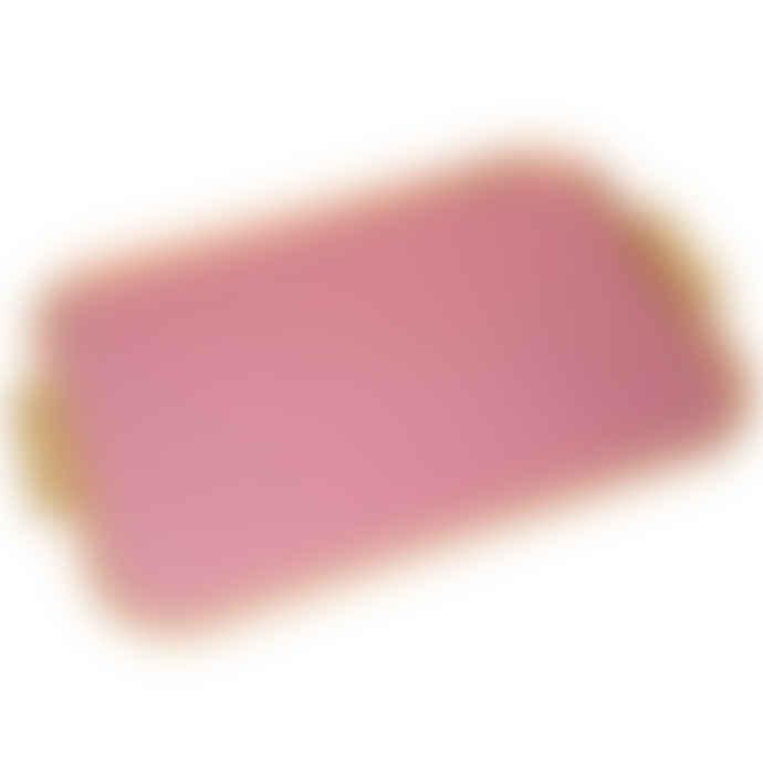 Kaymet Kaymet Tray - Diamond Ribbed - Pink & Gold