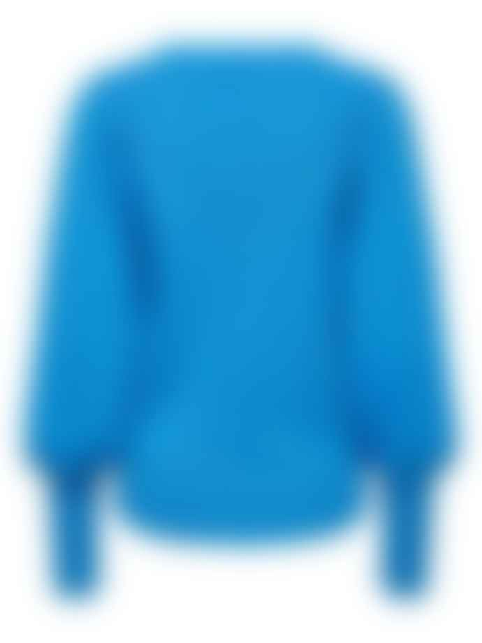 Selected Femme Tine Jumper In Campanula Blue
