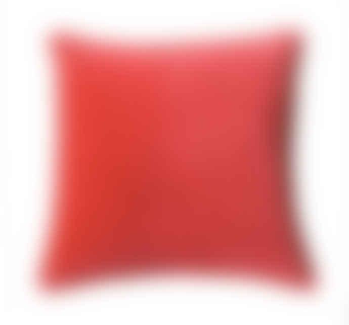 Biggie Best Brick Red Stonewashed Velvet Cushion