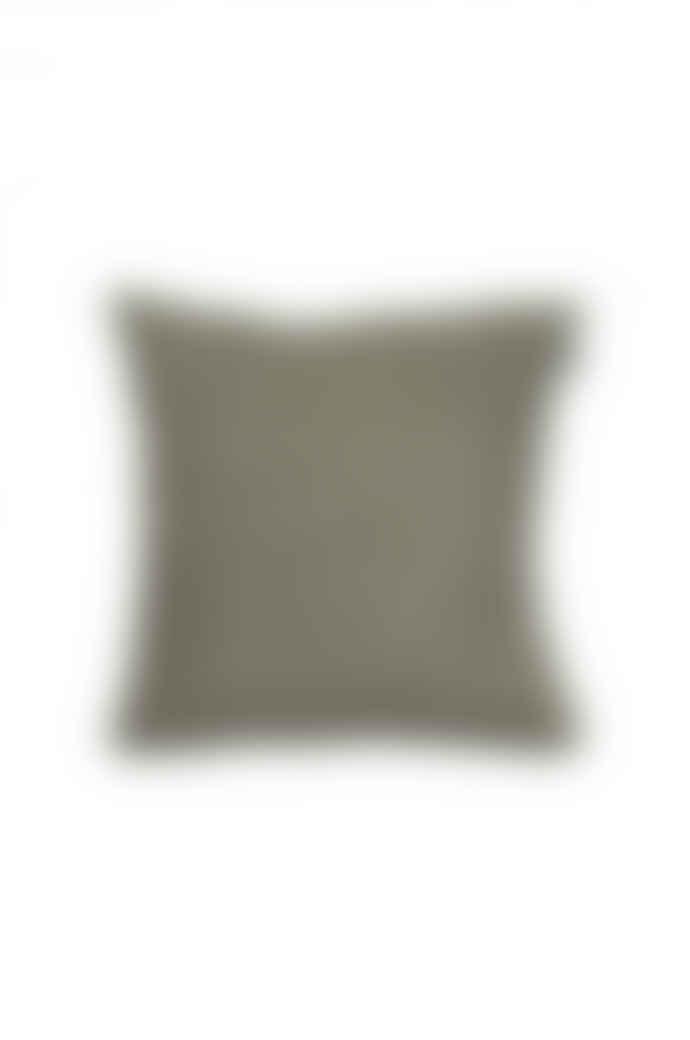 Himla Hannelin Cushion in Khaki by HIMLA