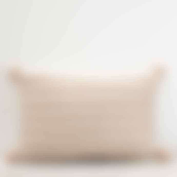 Also Home Dusky Pink Klim Woven Cushion