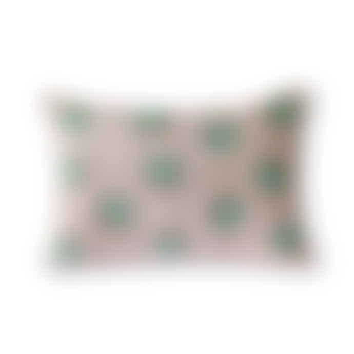 HKliving Jacquard Weave Shell Print Cushion