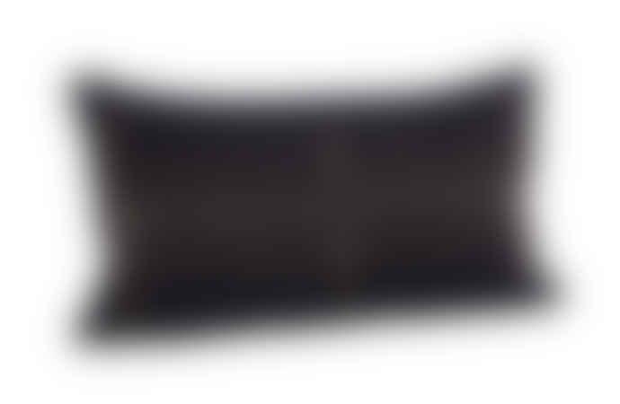 Madam Stoltz Embroidered Black Cushion