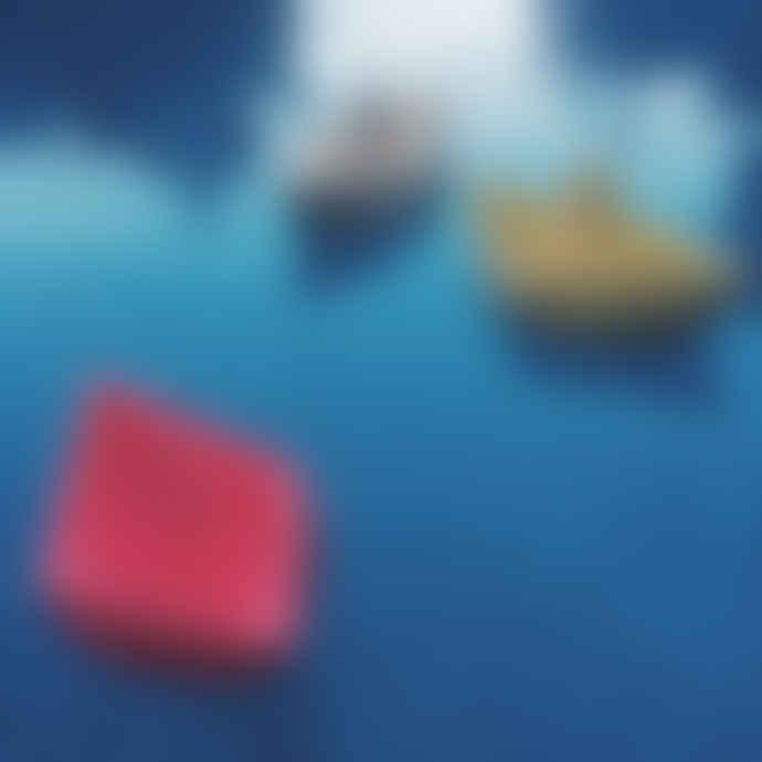 Oli & Carol White Origami Boat Shaped Bath Toy