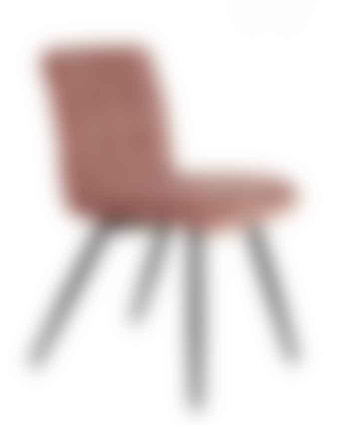 Bramley & White Mr Quilt Dining Chair Blush Velvet