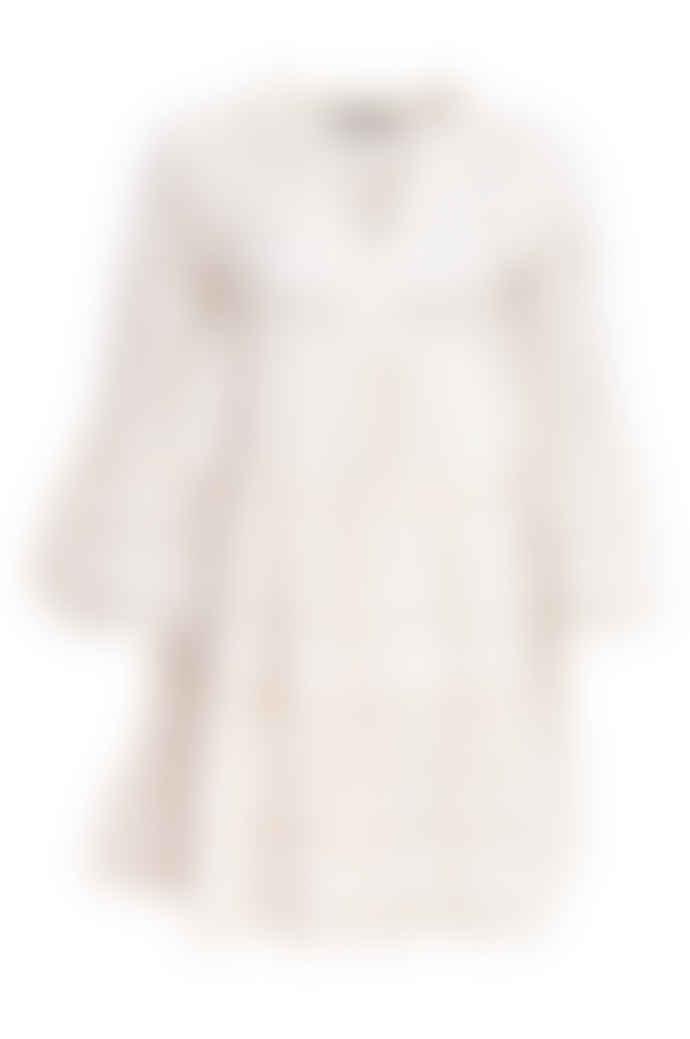 DEVOTION Short Aztek Dress Ella Ecru