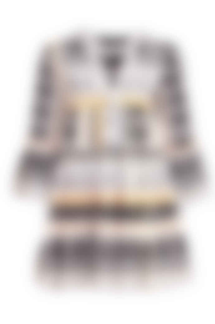 DEVOTION Short Aztek Dress Orange/ White