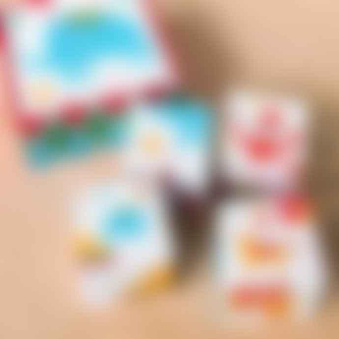 Rex London Set of 4 Big Top Circus Puzzle Blocks