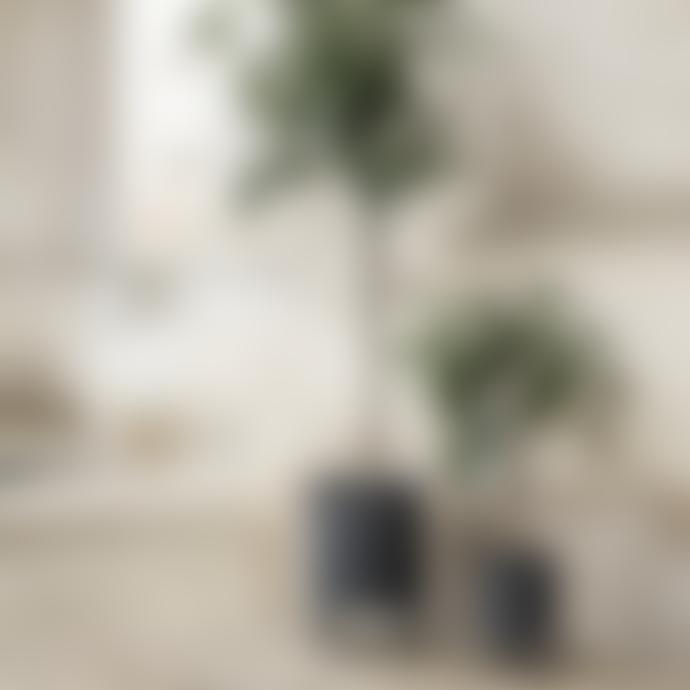 Ferm Living Set of 2 Dark Green Bau Plant Pots