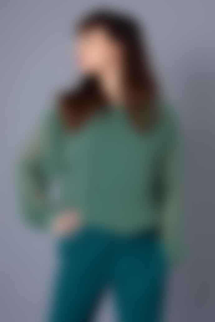 ICHI Ilona Dark Green Blouse