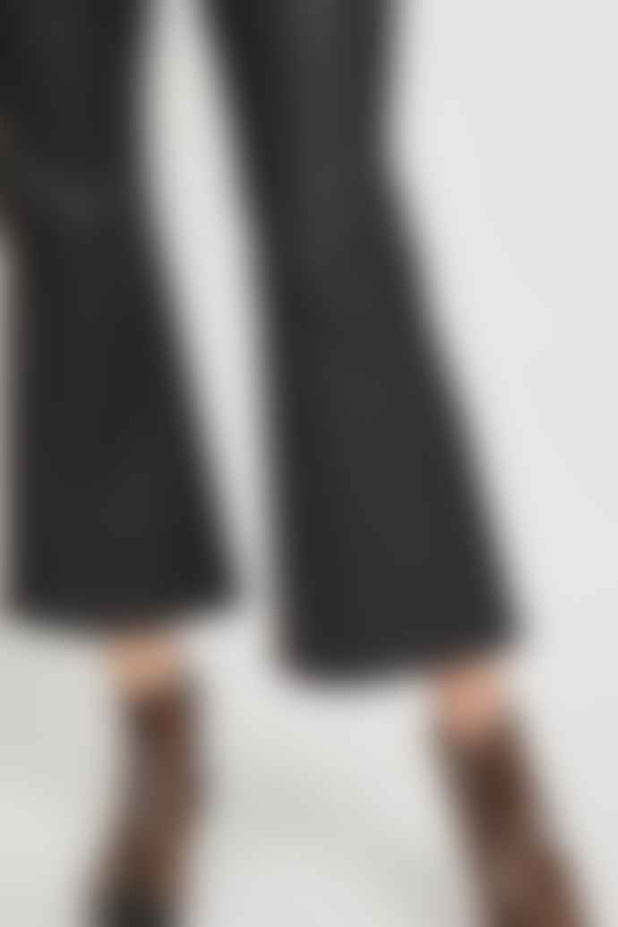 Vila Coated Cropped Flared Trousers