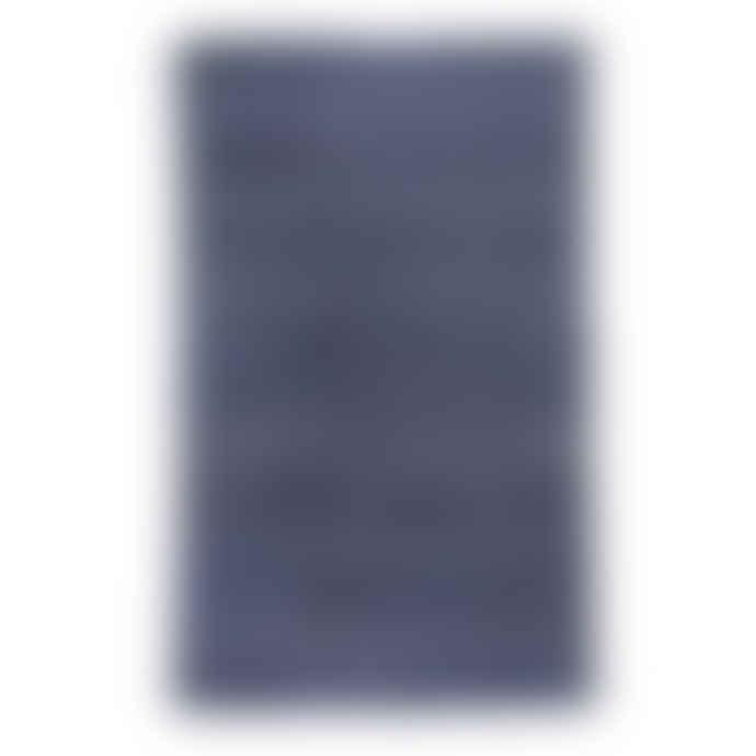 Madam Stoltz Blue and White Cotton Printed Rug