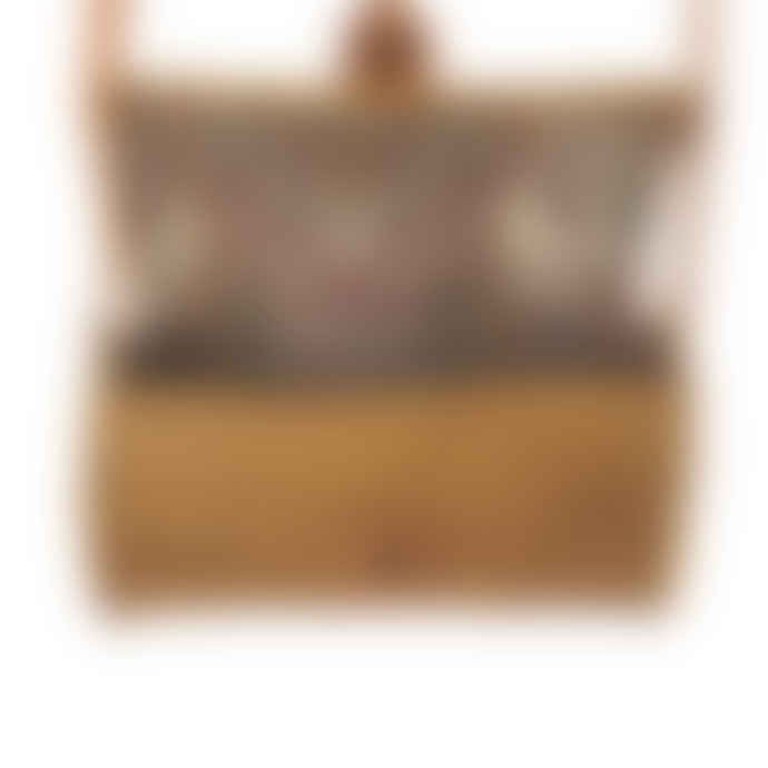 The Goods Natural Rattan Woven Shoulder Bag