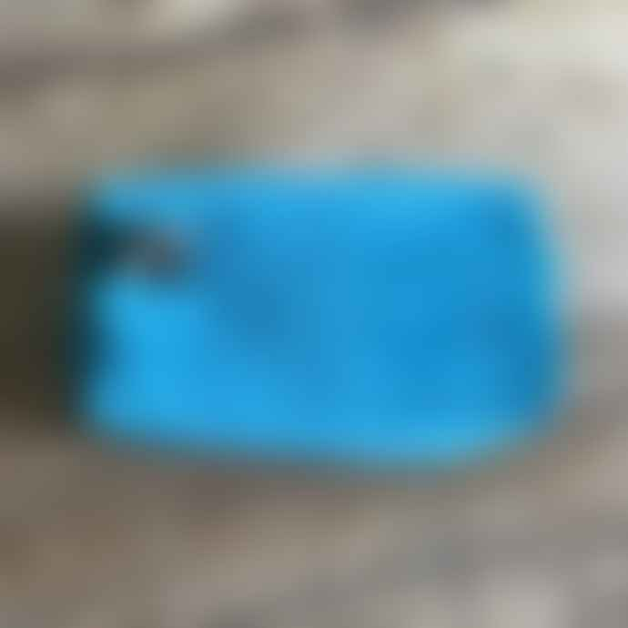 SIXTON LONDON Turquoise Velvet Make Up Bag With Bee Pin
