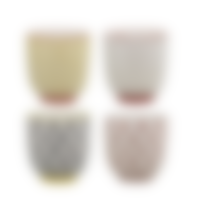 Bloomingville Set of 4 Ceramic Espresso Cups
