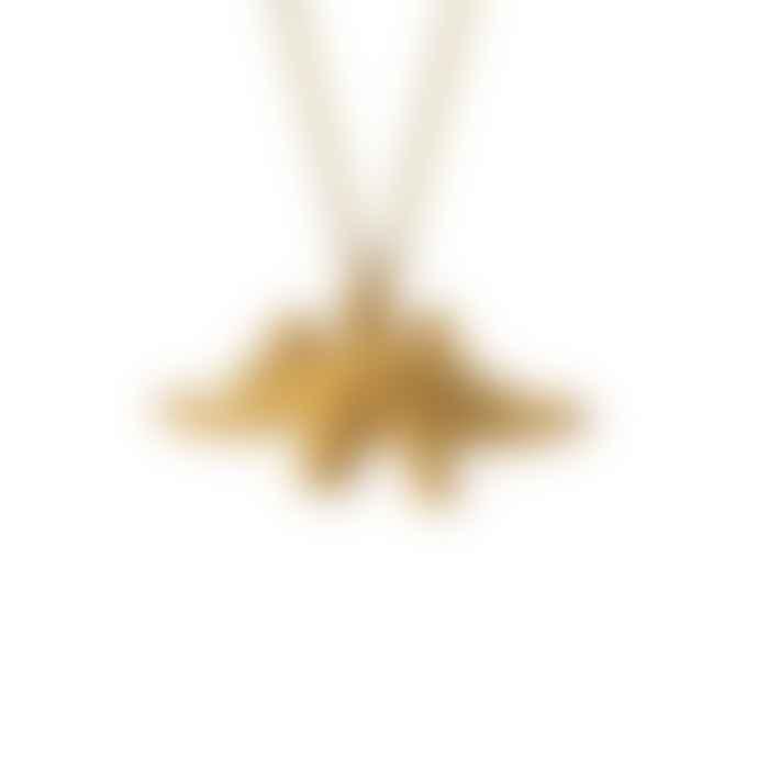 Lark London Stegosaurus Gold Necklace