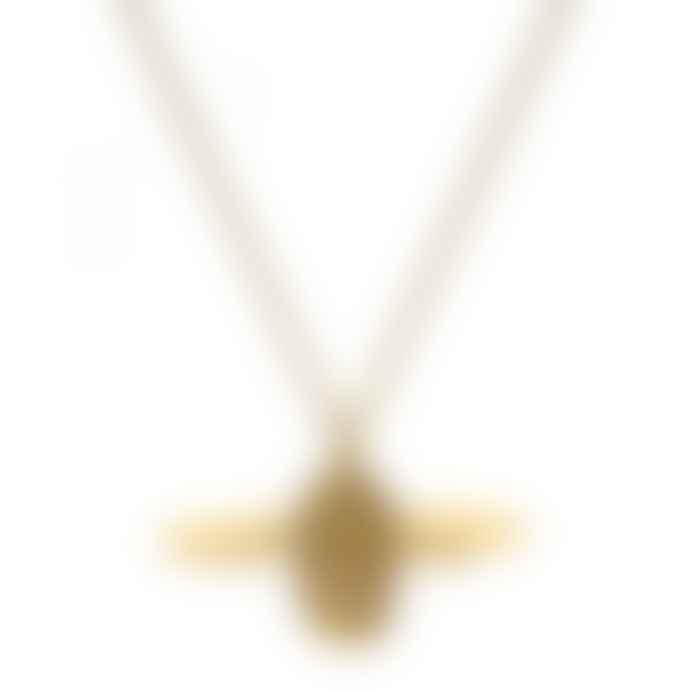 Lark London Alex Monroe Gold Bumblebee Necklace Large Gold