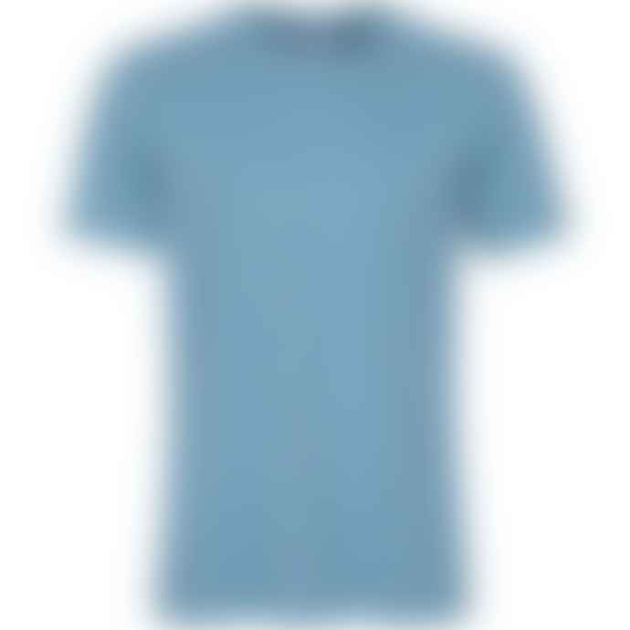 Colorful Standard T Shirt Bleu En Coton Bio Stone Blue
