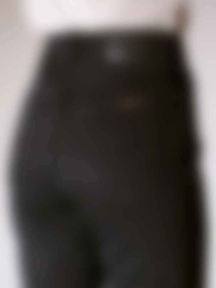 Nudie Jeans Black Mom Jeans In Organic Cotton Breezy Britt Black Worn