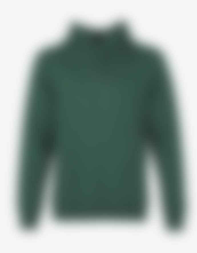 Colorful Standard Sweat A Capuche Vert En Coton Bio Emerald Green