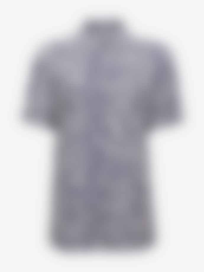 Baum und Pferdgarten Moanna Short Sleeve Shirt Deep Cobalt Leopard