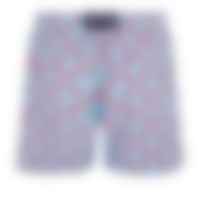 Vilebrequin Vilebrequin Moorea Swim Short Data Turtles Cherry Blossom