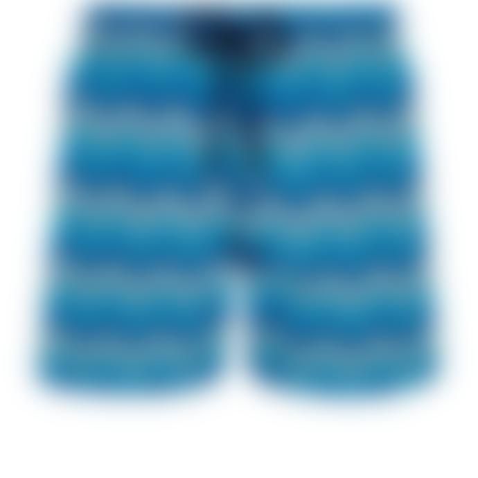 Vilebrequin Vilebrequin Moorea Swim Short Herringbones Turtles Azul Marino
