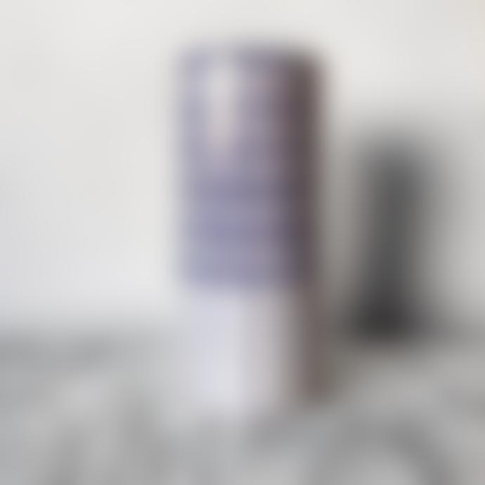Casa Cubista Crosshatch Vase Blue Large