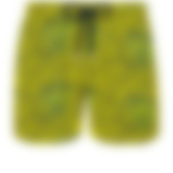 Vilebrequin Vilebrequin Moorise Superflex Shell Turtles Citron