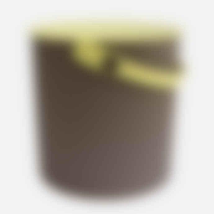 Hachiman Large Brown-Lime Lidded Storage Bucket