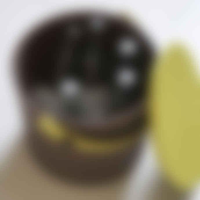 Hachiman Medium Brown Lime Lidded Storage Bucket