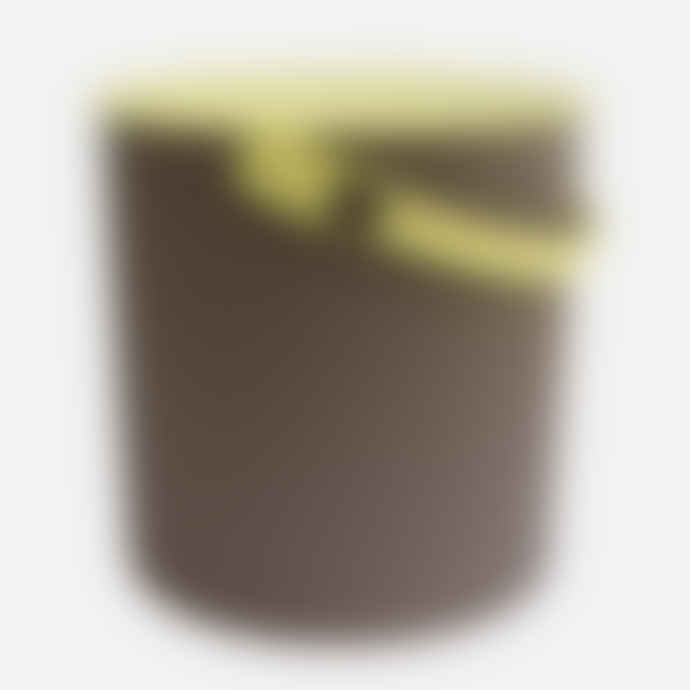 Hachiman Small Brown Lime Lidded Storage Bucket
