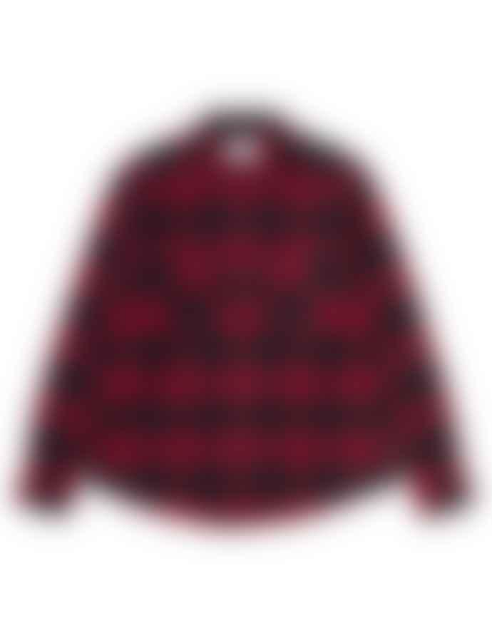 Carhartt Large Plaid Shirt Lambie Black Red