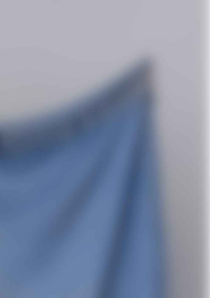 The Tartan Blanket Co. Recycled Wool Blanket In Sky Blue Herringbone