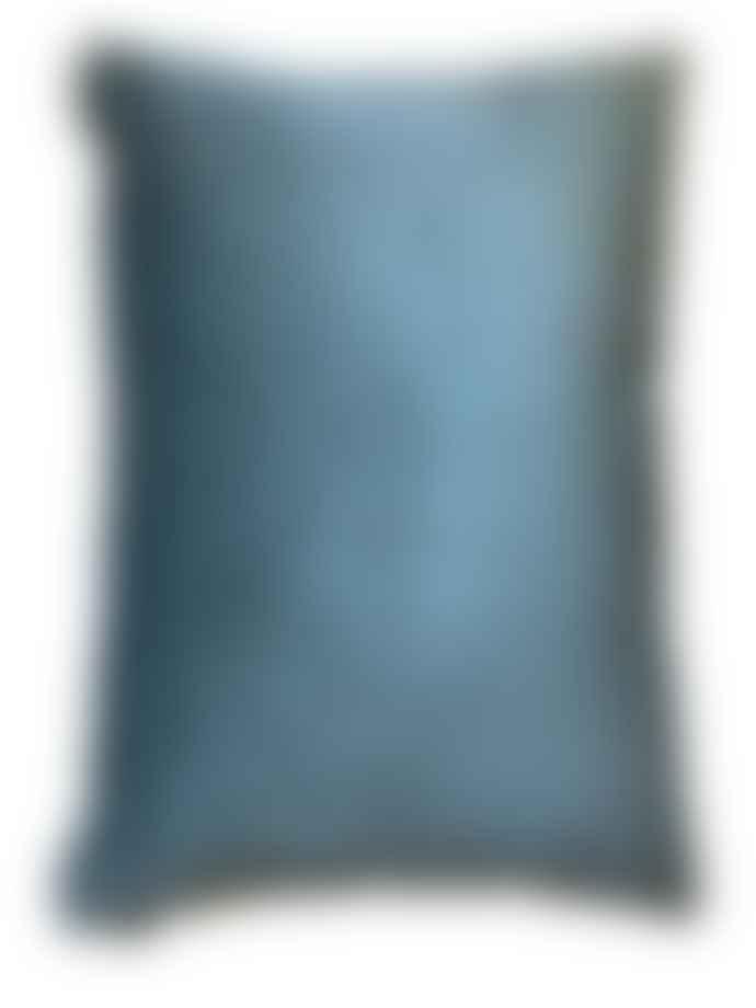 Vanilla Fly Big Blue Palm Cushion