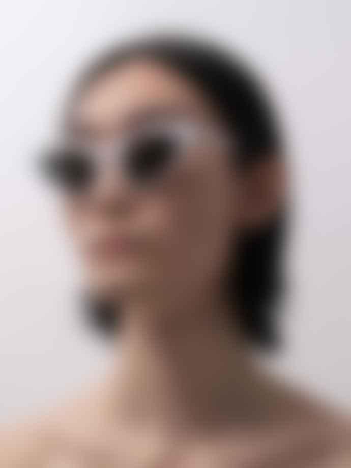 Han Kjobenhavn Race White Sunglasses