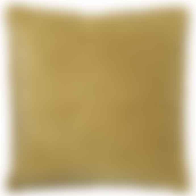 Ib Laursen Mustard Velvet Cushion Including Feather Pad