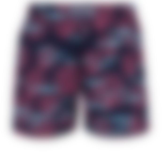 Vilebrequin Vilebrequin Moorea Swim Short Coral & Fish Navy