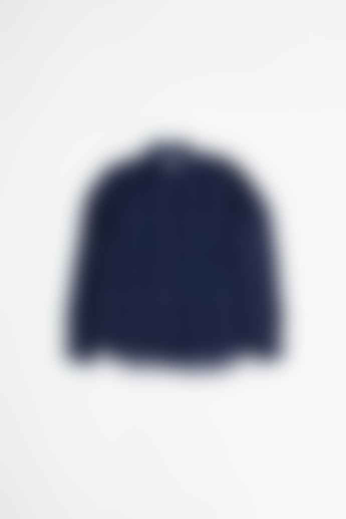 YMC Curtis Shirt Navy Stripe