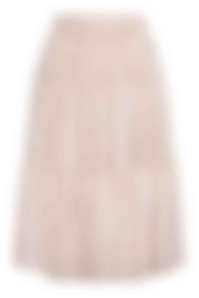 Cathrine Hammel Multi Peplum Midi Skirt Sand