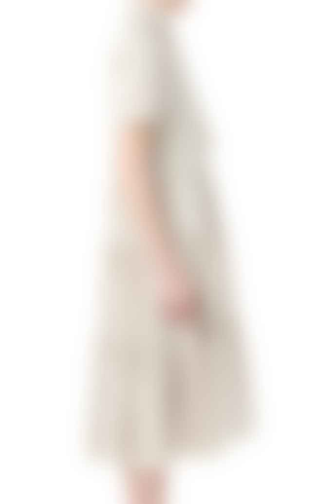 Cathrine Hammel Bowtie Peplum Midi Dress Sand