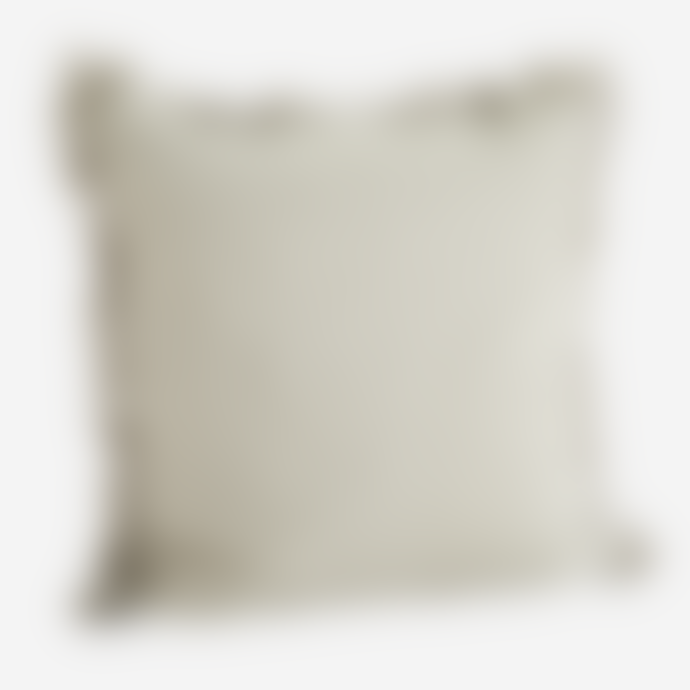 Madam Stoltz 60 x 60cm Taupe Cushion Cover With Tassels