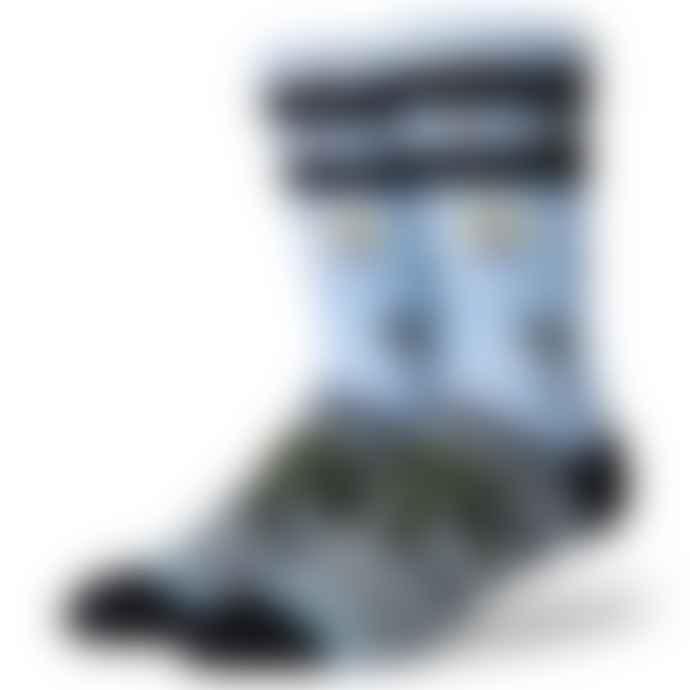 Stance Aloha Monkey Light Blue Socks