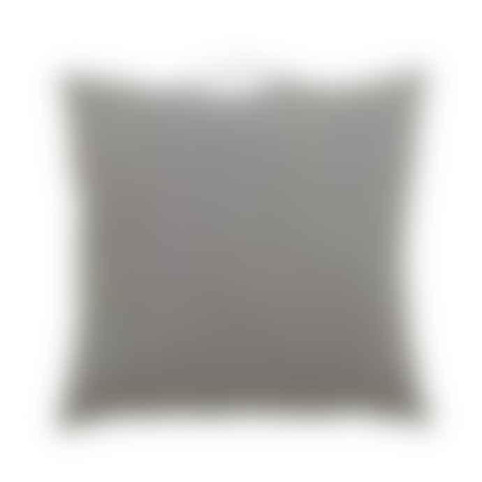 Hubsch Medium Grey Filler Pattern Cushion with Handle