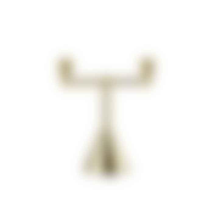 Tivoli by Normann Copenhagen Pirouette Candle Holder 2 Brass