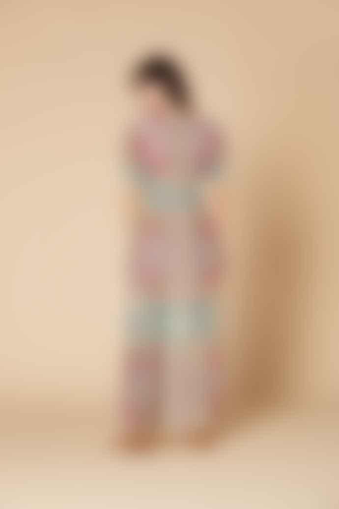 Derhy Cacastol Print V Neck Dress
