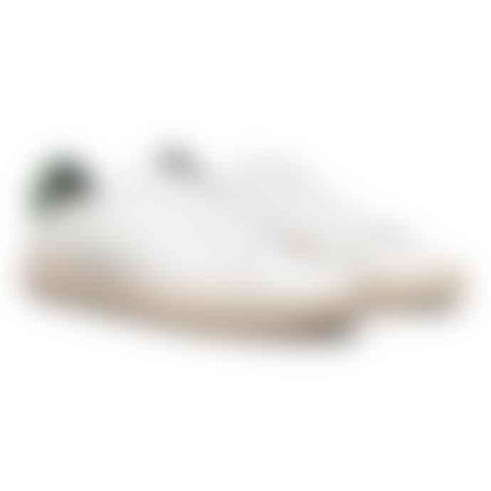 Clae Vegan Leather Bradley White Olive Shoes